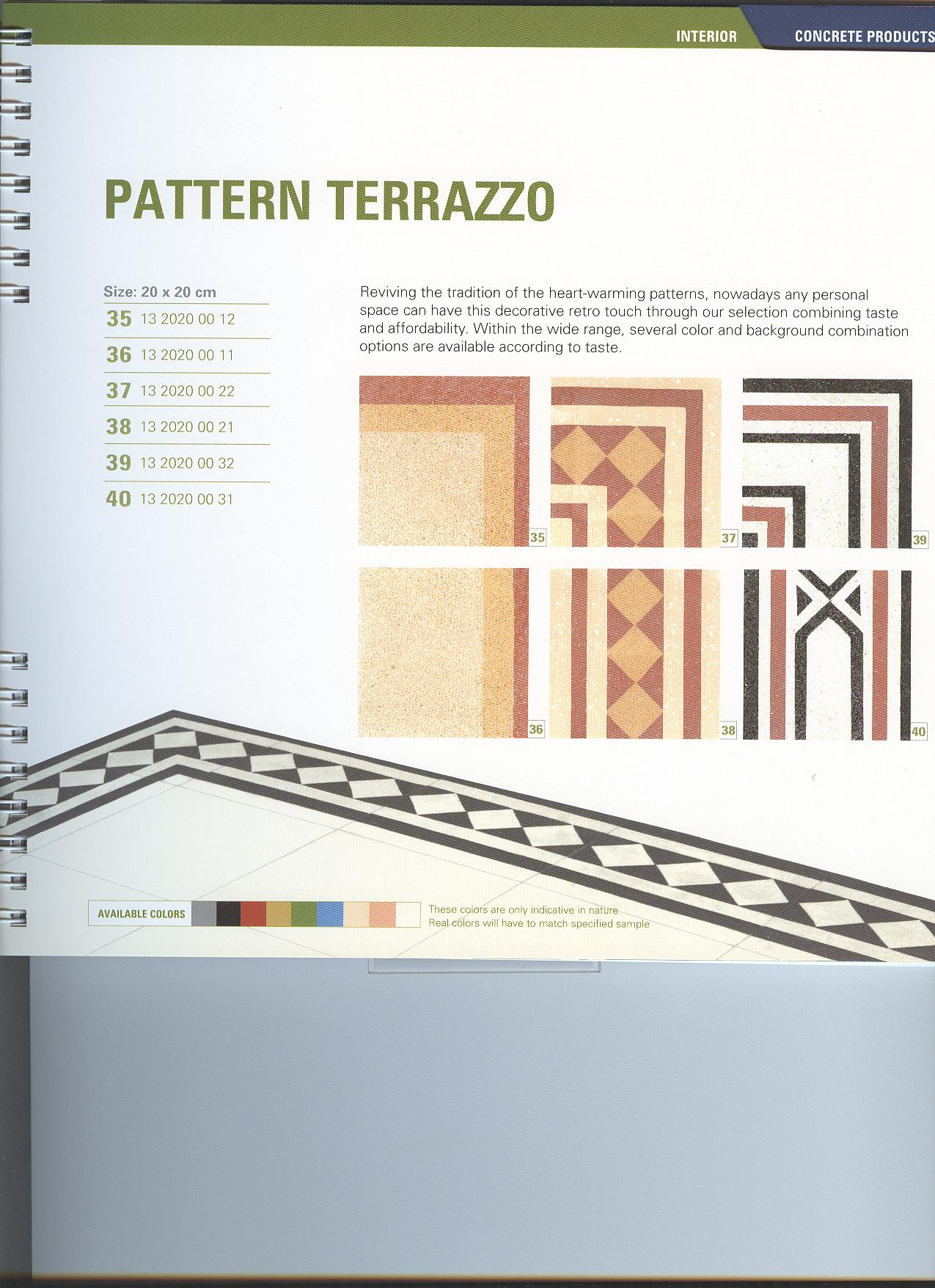 Pattern Terrazzo   PPB structures